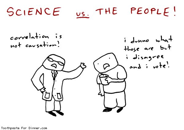 Comic by Toothpaste For Dinner: science vs the people