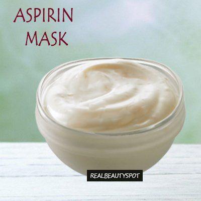 aspirin acne mask