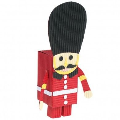 This fantastic 'Grenadier Guard' paper craft kit is a great arts and crafts activity for younger children.