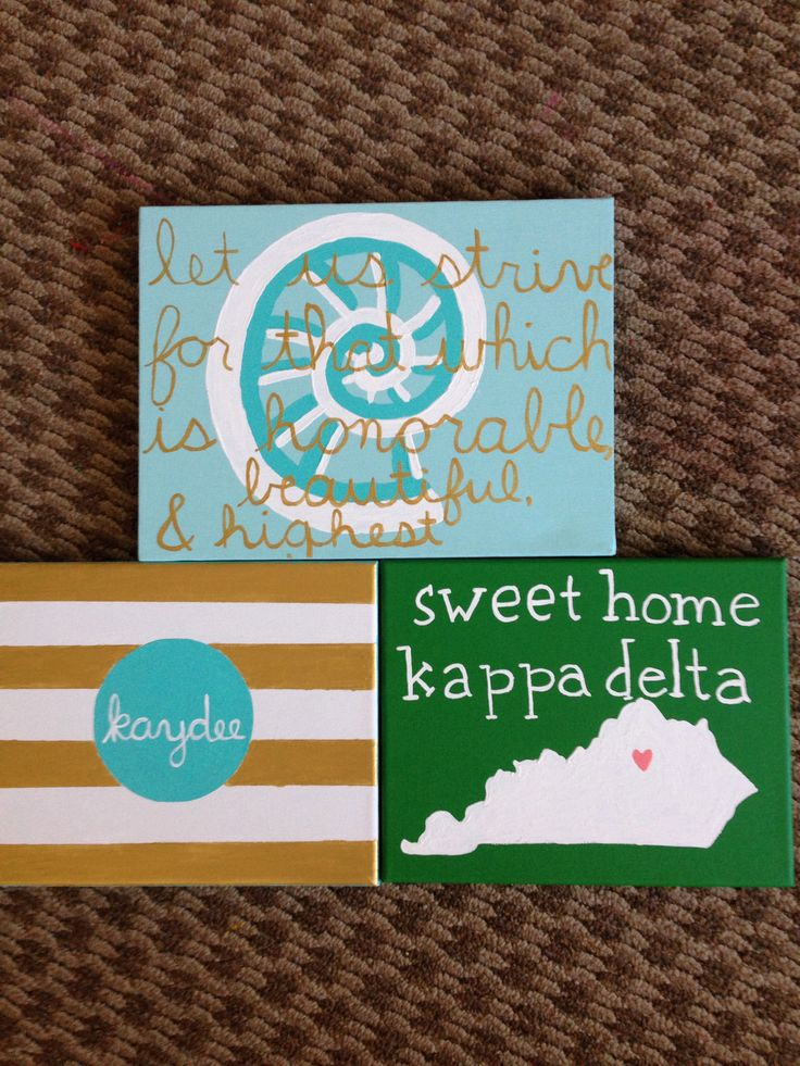 Kappa delta canvases I made!