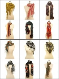 The beginning of my search for new ways to wear scarves this fall...love the inspiration! :)