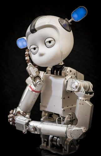 Daniel Borris for The New York Times | Simon, a humanoid robot, sits for a photograph.