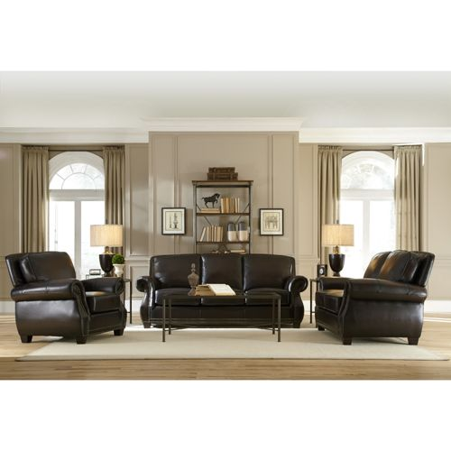 3-Piece Marcella Leather Sofa, Loveseat