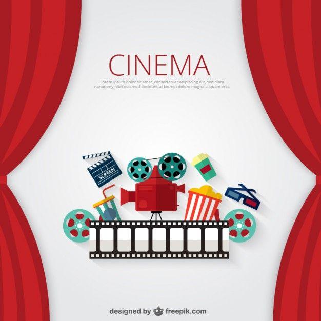Fondo de cine Vector Gratis