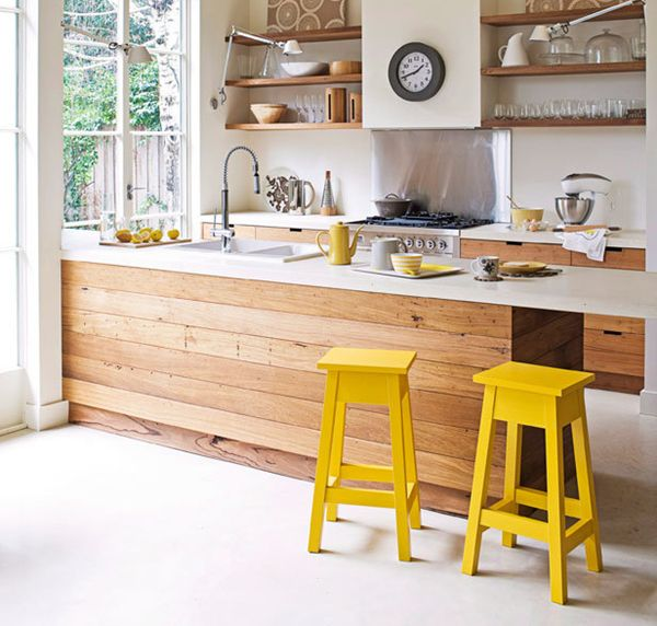 In The Details :: White Kitchen + Wood Island