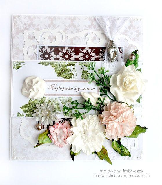 Kartka z papierami nowej kolekcji  #scrapbooking, #card, #kartka, #handmade, #rękodzieło, #malowanyimbryczek, #anniversary