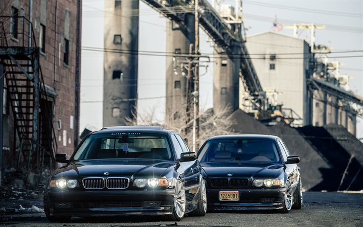BMW 7, black bmw, tuning, e38, bmw 750il