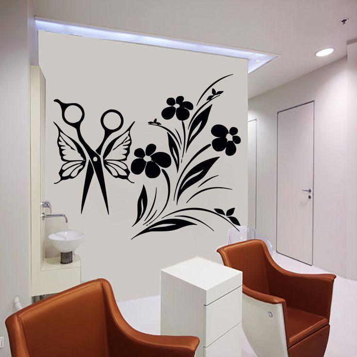 1000 images about beauty salon on pinterest vinyls for Stickers design salon
