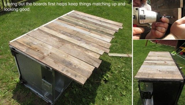 How To Turn An Old Broken Refrigerator Into An Awesome Rustic Cooler...