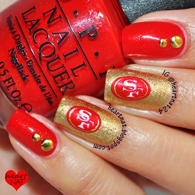 San Francisco 49er Nails now thats cute