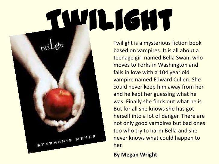 Book Report Twilight Summary - The best expert's estimate