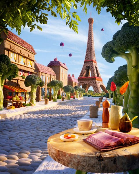 Mind Blowing Foodscapes by Carl Warner