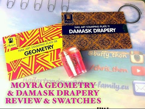 Moyra GEOMETRY & DAMASK DRAPERY plates - Review & Swatches - YouTube
