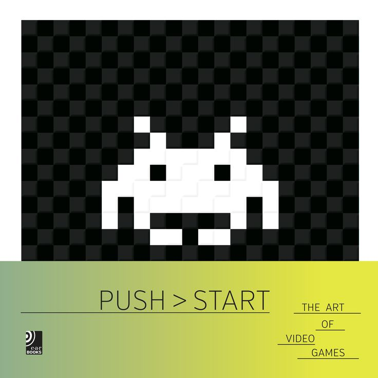 """Push Start"" outlines the graphical evolution from its beginnings, through the golden age of arcade video games, to the latest generation of game consoles. Fascinating artwork and screenshot prints of the most famous video games and the corresponding cult sounds on a 10-inch vinyl create an expanding universe of game culture in which the worlds of emotion, reality and art collide."
