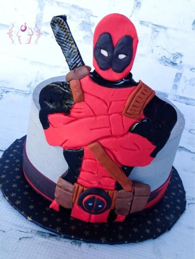 Lego Deadpool Cake Template