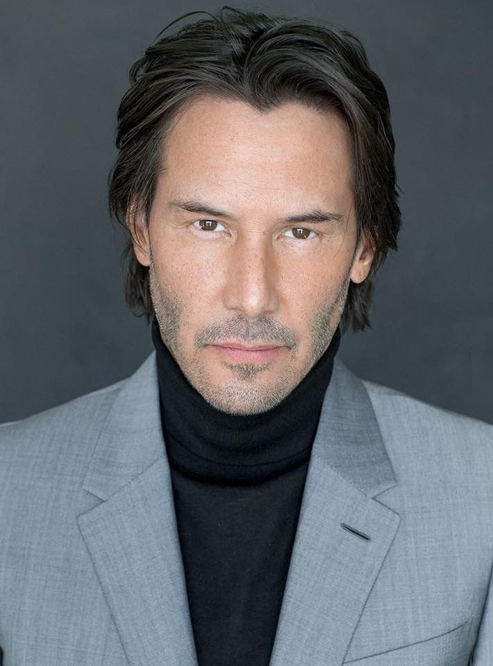 #JohnWick/JohnWickChapter2  Keanu Reeves(John)//I like this photo: almost clean shaven. Know men love their beards during winter so their faces aren't chapped by shaving, But I think I'm over the beard trend now