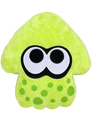 "Sanei Splatoon Series Lime Green Splatoon Squid Cushion 14"" Plush Sanei http://www.amazon.com/dp/B00XOQGN44/ref=cm_sw_r_pi_dp_IctZvb0GT08Z4"