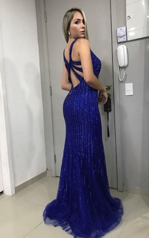 Vestidos de festa em azul royal