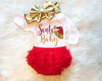 Baby Girl Christmas Outfit My First Christmas Outfit Best