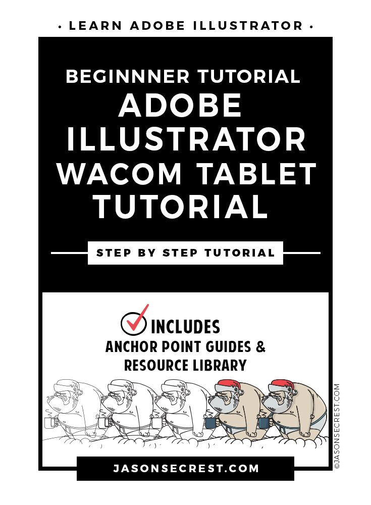 Check Out This Step By Step Adobe Illustrator Tutorial Using A Wacom Tablet On Jasonsecre Learning Adobe Illustrator Adobe Illustrator Tutorials Wacom Tutorial