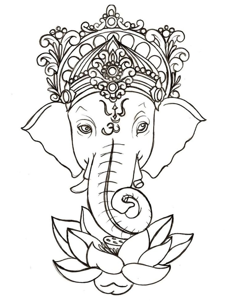 Ganesh with Lotus Tattoo by ~Metacharis on deviantART-a symbol for wisdom and faith