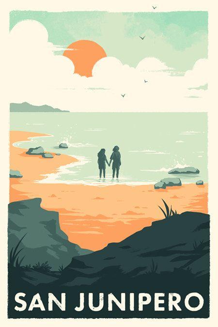 San Junipero Black Mirror Poster Print by DanielleSylvan on Etsy