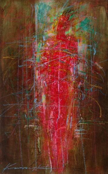 """Saatchi Art Artist Antoni Karwowski; Painting, """"Red Figure"""" #art"""