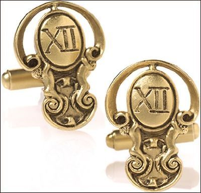 24k gold plated  #maxfield #parrish's #father time cufflinks men's cufflinks,  View more on the LINK: http://www.zeppy.io/product/gb/2/331428811028/