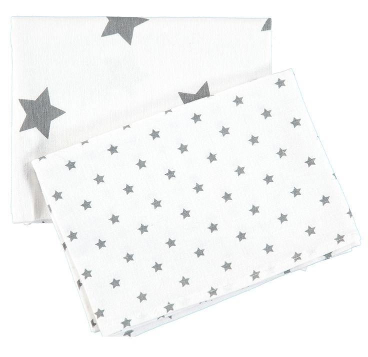 Bellybutton Moltontücher 'Sterne' weiß/grau 80x80cm 2er Set - im Fantasyroom Shop online bestellen oder im Ladengeschäft in Lörrach kaufen. Besuchen Sie uns!