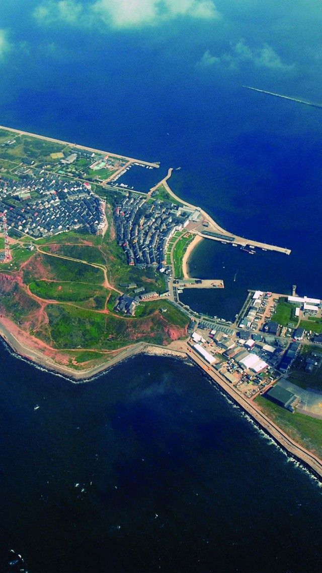 Heligoland, Germany. Helgoland (or Heligoland) was once part of the British Empire (1814-1890).