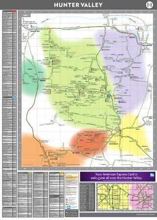Hunter Valley Map 2012