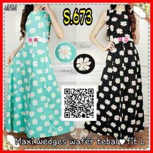 Jual Baju Maxi Dress Lengan Buntung Modis