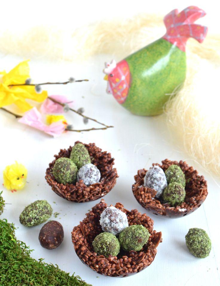 Chocolate Quinoa Nest & Easter Egg Energy Balls {Vegan}