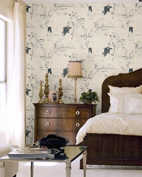 'Cow' wallpaper by Belynda Sharples. Printed in Britain