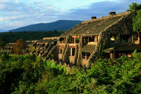 Ngorongoro Lodge -- from my room I could see and hear the Masai herding their cattle up from the floor of the crater.