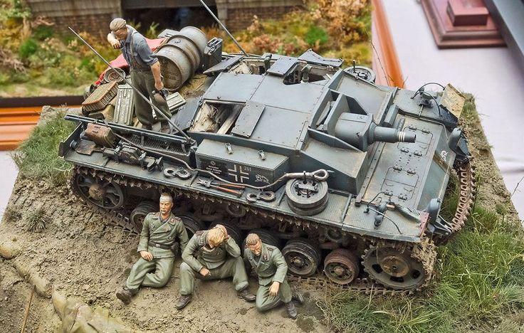 MY mini WORLD: 24. WWII Diorama with a U.S. M-12 155mm Gun
