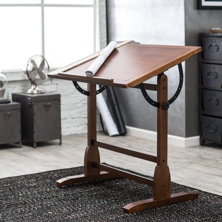Studio Designs Vintage Drafting Table - Rustic Oak - 13304