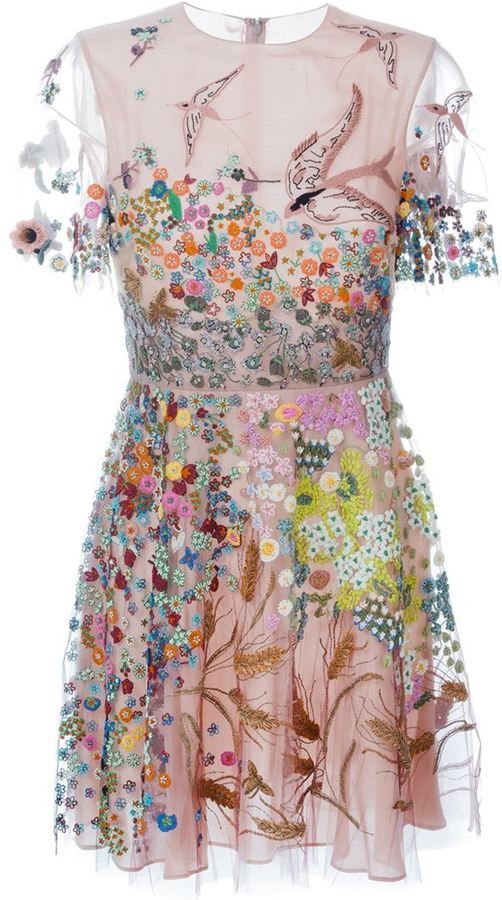 Valentino floral embroidered dress - 7112style.website -