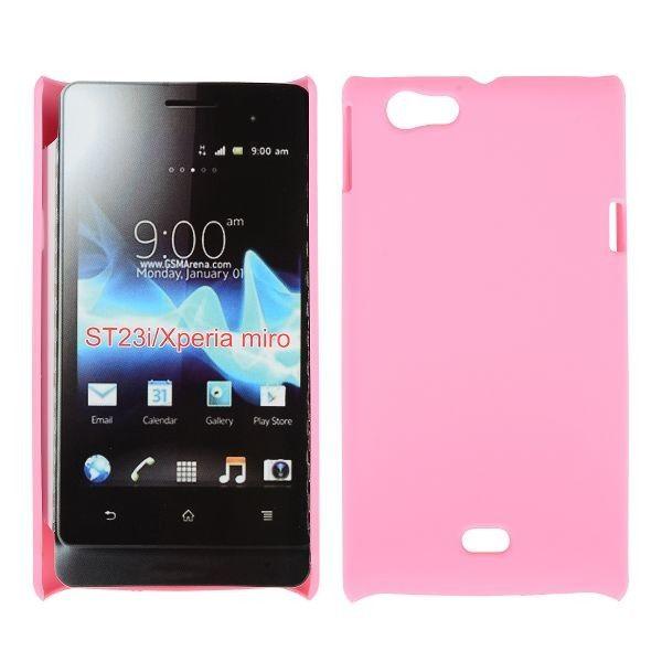Hard Shell (Lyse Rosa) Sony Xperia Miro Deksel