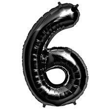 Sifferballonger Svart 6
