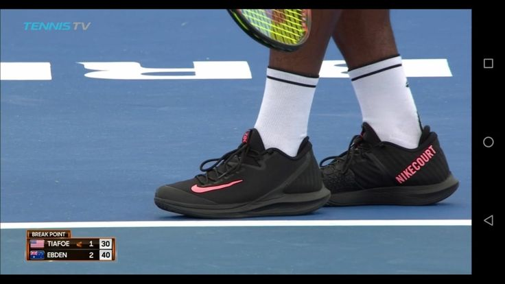 Frances Tiafoe wears a new Nike Tennis Shoe 👟 that is completely unknown at the moment at #BrisbaneTennis