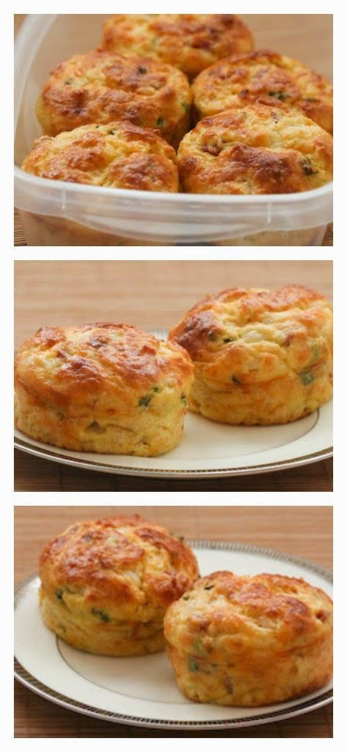 Cottage Cheese and Egg Breakfast Muffins with Ham and Cheddar found on KalynsKitchen.com