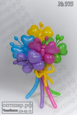 I ♥ butterflies made with ♥ shaped latex balloons!
