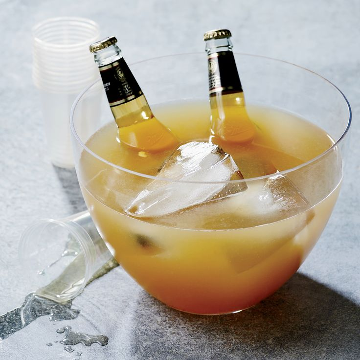 this best ever rye and beer punch comes with a cheeky garnish two bottles - Halloween Punch Alcoholic