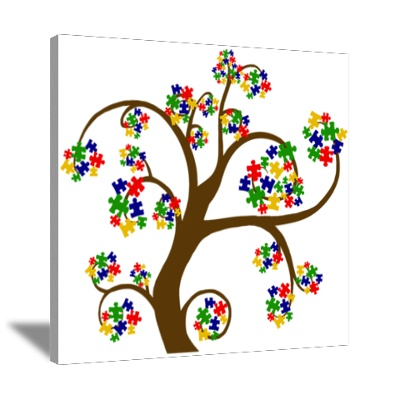 Autism Wall Art Canvas Art