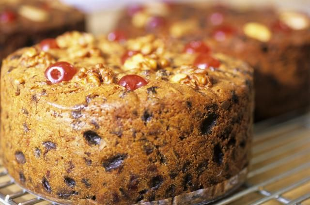 Instead of candied fruit, this vanilla fruitcake uses dried fruits, including cranberries, cherries, strawberries, and blueberries for a new taste.