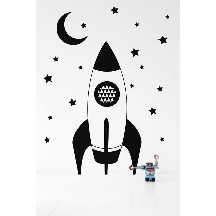 Rocket wallsticker, svart i gruppen Innredningsdetaljer / Wallstickers hos RUM21 AB (112963)