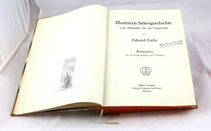 Illustrierte Sittengeschichte Gebundenes Buch von 1909. Vom Mittelalter bis.... in Antiquitäten & Kunst, Antiquarische Bücher | eBay