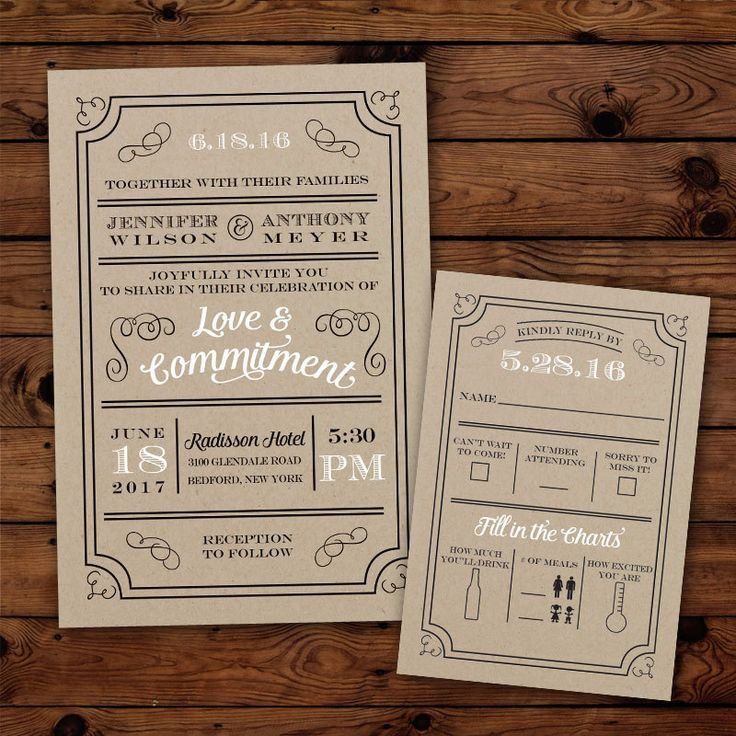 fast shipping wedding invitations%0A Custom   Rustic Typography   Wedding Invitations by PuttinOnTheGlitz U
