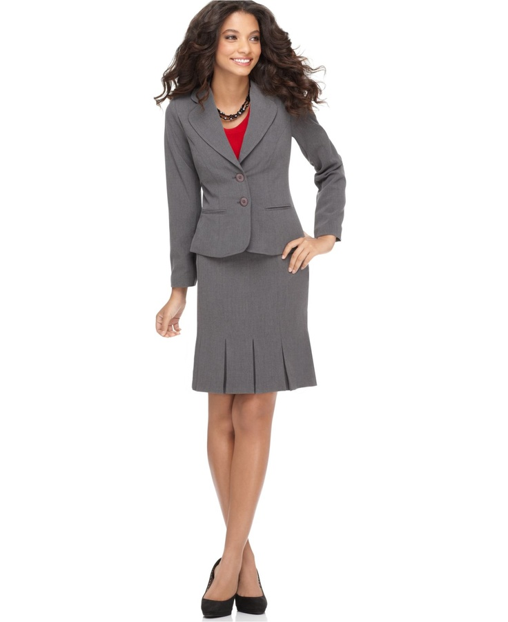 AGB Two Button Suit Jacket & Box Pleat Skirt - Womens Suits & Suit Separates - Macy's